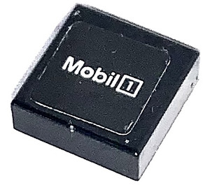 LEGO Tile 1 x 1 with MOBIL 1 Sticker with Groove (3070)