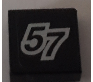 LEGO Tile 1 x 1 with Sticker from Set 8643 with Groove (3070)