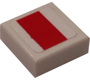 LEGO Tile 1 x 1 with X-Wing Red Rectangle Sticker with Groove (3070)