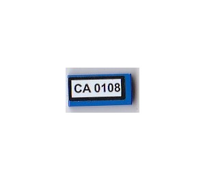 LEGO Tile 1 x 2 (undetermined type), Stickered 'CA 0108' (3069)