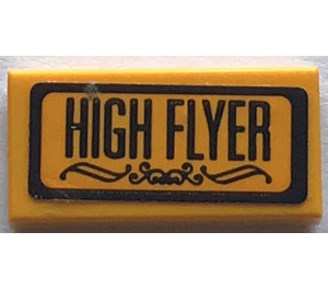 "LEGO Tile 1 x 2 with ""HIGH FLYER"" Sticker (3069)"