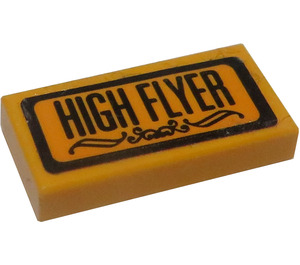 "LEGO Tile 1 x 2 with ""HIGH FLYER"" Sticker with Groove (3069)"