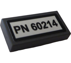 """LEGO Tile 1 x 2 with """"PN60214"""" Sticker (3069)"""