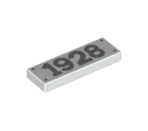 """LEGO Tile 1 x 3 with """"1928"""" (37294 / 60336)"""