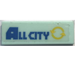 LEGO Tile 1 x 3 with All City Sticker (37294)