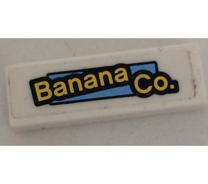 LEGO Tile 1 x 3 with Banana Co. Sticker (37294)