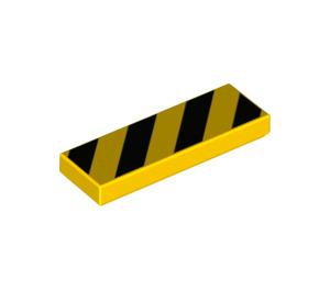 LEGO Tile 1 x 3 with Black Diagonal Stripes (37294 / 68408)