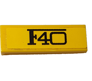 LEGO Tile 1 x 3 with Black 'F40' Sticker (37294)