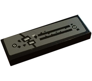 LEGO Tile 1 x 3 with Black Lines Sticker (63864)