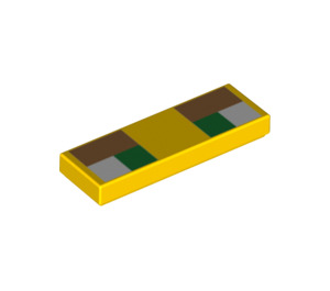 LEGO Tile 1 x 3 with Decoration (37294 / 66769)