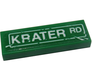 LEGO Tile 1 x 3 with 'KRATER RD' Sticker (37294)