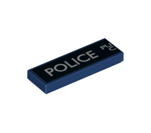 """LEGO Tile 1 x 3 with Left Side of """"Police Public Call Box"""" Decoration (24411 / 63864)"""