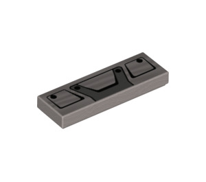 LEGO Tile 1 x 3 with Mack Truck Grill Decoration (37296 / 63864)