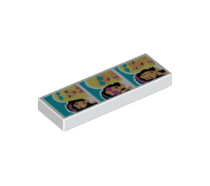 LEGO Tile 1 x 3 with Photo Booth Pictures (17816 / 63864)