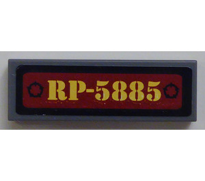"""LEGO Tile 1 x 3 with """"RP-5885"""" Sticker (37294 / 63864)"""
