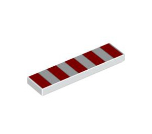 LEGO Tile 1 x 4 with 5 Red Stripes (2431 / 48135)