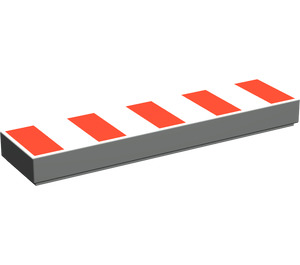 LEGO Tile 1 x 4 with 5 Red Stripes (48135)