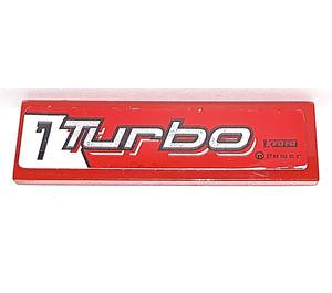 "LEGO Tile 1 x 4 with ""7 Turbo"" Sticker (2431)"