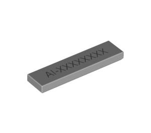 LEGO Tile 1 x 4 with AI-XXXXXXXX (Game Code) (17204 / 19238)