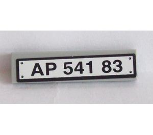 LEGO Tile 1 x 4 with 'AP 541 83' Registration Number Sticker (2431)
