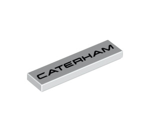 LEGO Tile 1 x 4 with Caterham Logo (2431 / 31909)