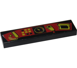 LEGO Tile 1 x 4 with Control Panel Decoration (2431)