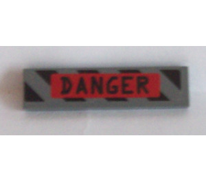 LEGO Tile 1 x 4 with 'Danger' Sticker (2431)