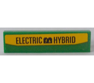 LEGO Tile 1 x 4 with 'ELECTRIC HYBRID' Sticker (2431)