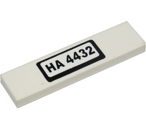 """LEGO Tile 1 x 4 with """"HA 4432"""" Sticker (2431 / 91143)"""