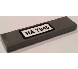 """LEGO Tile 1 x 4 with """"HA 7945"""" Sticker (2431)"""