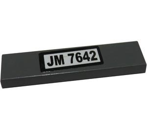 "LEGO Tile 1 x 4 with ""JM 7642"" Sticker (2431)"