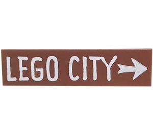 LEGO Tile 1 x 4 with 'LEGO CITY' and Arrow (2431 / 38680)