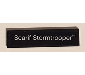 """LEGO Tile 1 x 4 with """"Scarif Stormtrooper"""" Sticker (2431)"""
