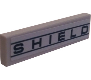 """LEGO Tile 1 x 4 with """"SHIELD"""" Sticker (2431)"""