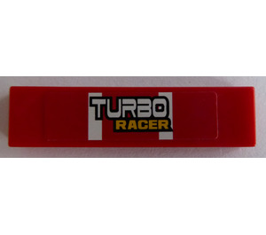"LEGO Tile 1 x 4 with ""TURBO RACER"" Sticker (2431 / 91143)"