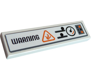 """LEGO Tile 1 x 4 with """"WARNING"""", Gauge and Buttons Sticker (2431)"""