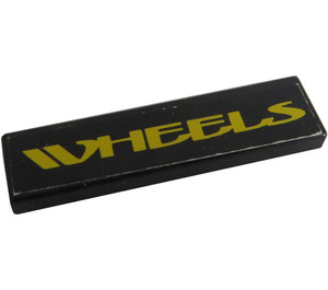 "LEGO Tile 1 x 4 with ""WHEELS"" Sticker (2431)"