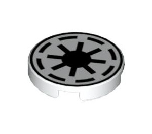 "LEGO Tile 2 x 2 Round with Galactic Republic with ""X"" Bottom (4150 / 42132)"