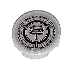 LEGO Tile 2 x 2 Round with GT sign Sticker with Bottom Stud Holder (14769)