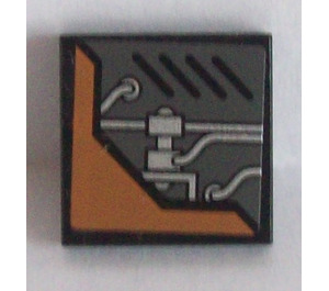 LEGO Tile 2 x 2 with Pipes and Vents (Left) Sticker (3068)