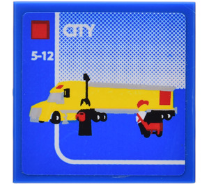 LEGO Tile 2 x 2 with Truck Sticker (3068)