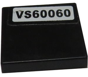 """LEGO Tile 2 x 2 with """"VS60060"""" Sticker with Groove (3068)"""