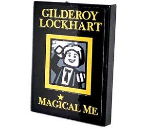 LEGO Tile 2 x 3 with GILDEROY LOCKHART MAGICAL ME Sticker (26603)
