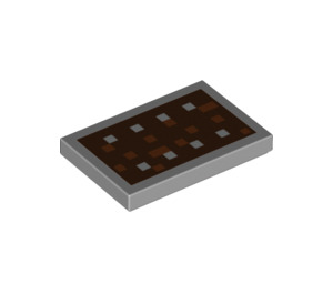LEGO Tuile 2 x 3 avec Minecraft Bouclier Print (26603 / 34802)