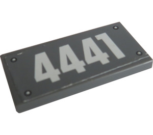 "LEGO Tile 2 x 4 with ""4441"" Sticker (87079)"