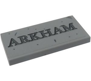 LEGO Tile 2 x 4 with 'ARKHAM' Sticker (38879)