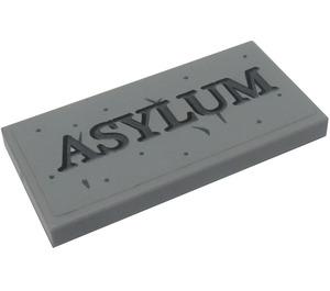 LEGO Tile 2 x 4 with 'ASYLUM' Sticker (38879)