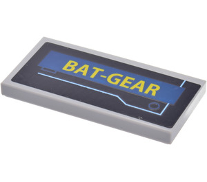 LEGO Tile 2 x 4 with 'BAT-GEAR' Sticker from Set 6860 (71150 / 87079)