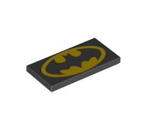 LEGO Tile 2 x 4 with Batman Logo (26247 / 71150)