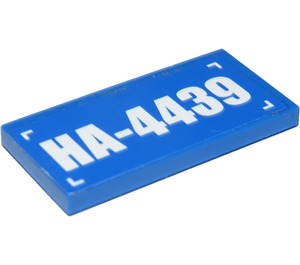 "LEGO Tile 2 x 4 with ""HA-4439"" Sticker (87079)"